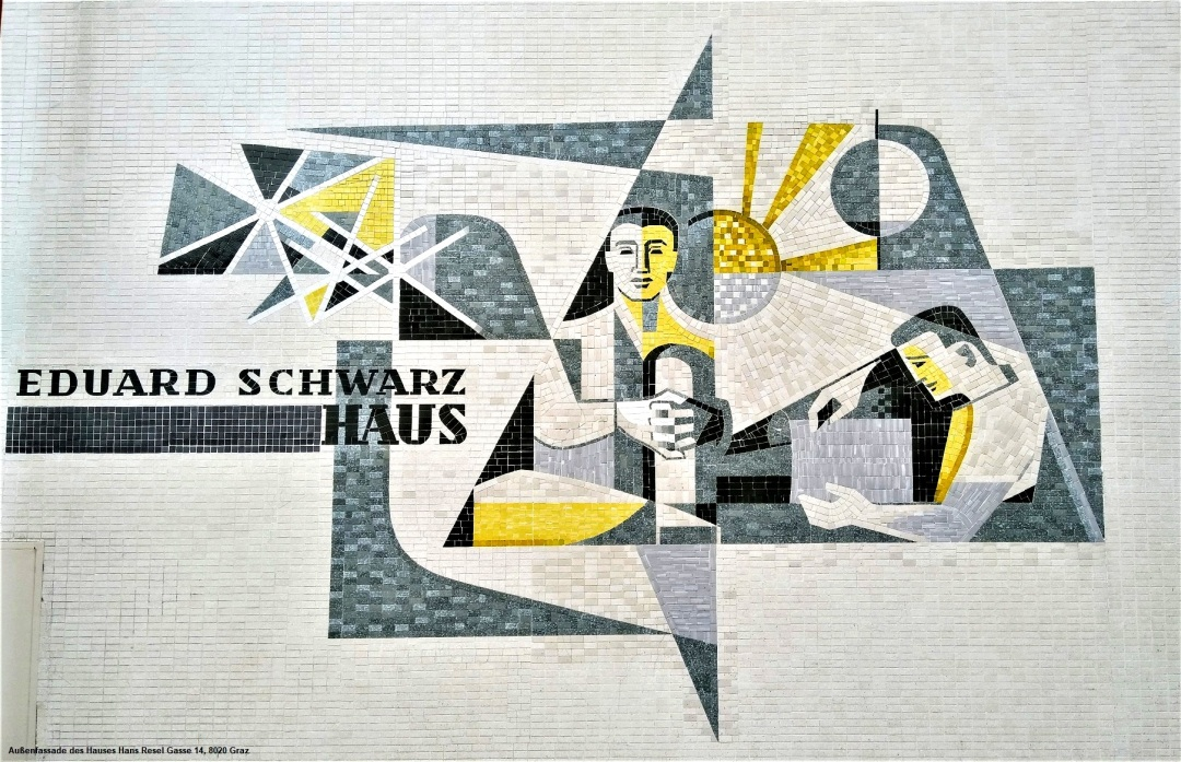 2018-09-04_Fliesenbild_Außenfassade_Eduard-Schwarz-Haus_AK-Steiermark_Hans-Resel-Gasse-14_Graz