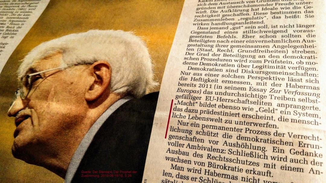 2019-06-15_Der-Standard_Habermas_Verrechtlichung-schuetzt-vor-Aushoehlung-demokratischer-Errungenschaften