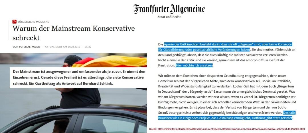 2019-08-30_FAZ_Peter-Altmaier_Warum-der-Mainstream-Alternative-schreckt_wir-brauchen-ein-einigendes-Projekt