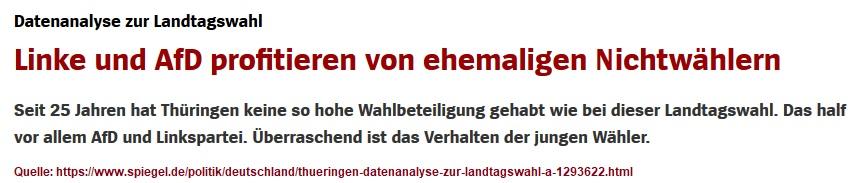 2019-11-03_Spiegel_Wahlanalyse-Thueringen_Linke-und-AfD-profitieren-von-ehemaligen-Nichtwaehlern