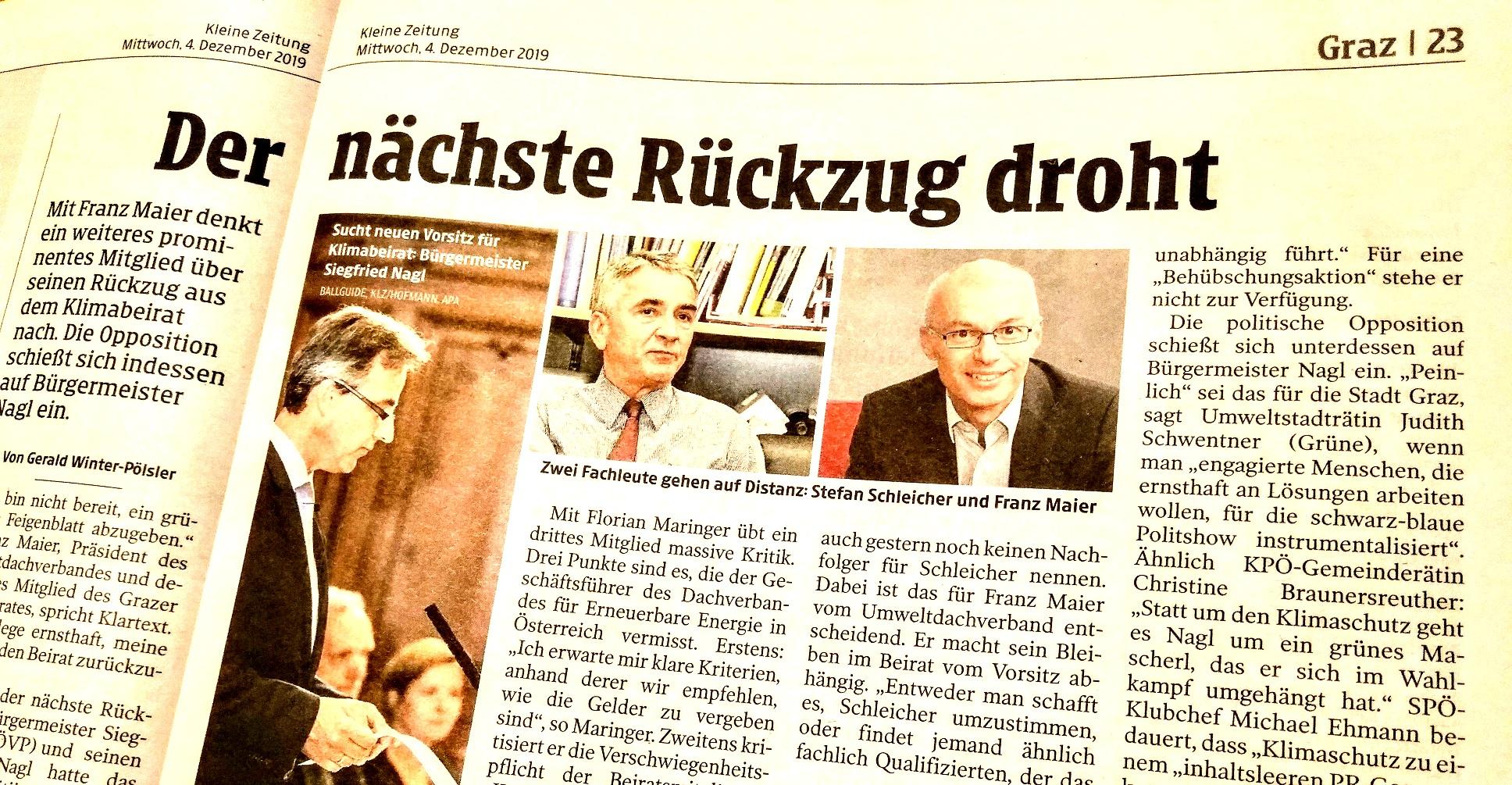 2019-12-04_Kleine-Zeitung_Stadt-Graz_Klimabeirat